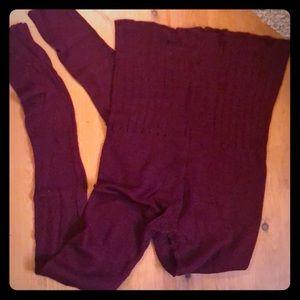 Burgundy knit dance worm up
